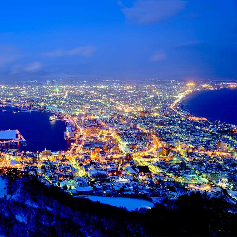 函館夜景|洞爺花火船|百選溫泉