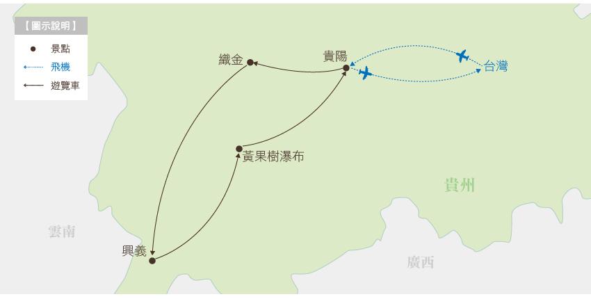 中國 留戀貴州 地圖