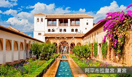 西班牙_格拉那達_阿罕布拉皇宮-夏宮<br />
