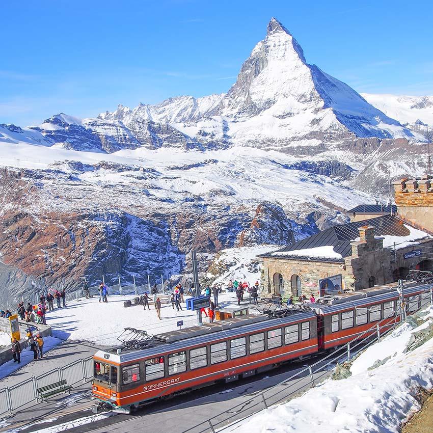 瑞士-馬特洪峰-登山火車