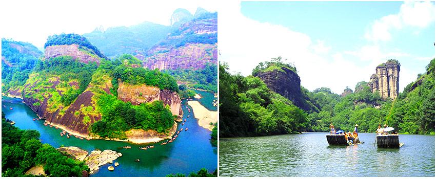武夷山景區:天遊峰+九曲溪漂流