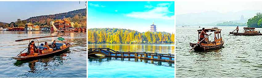 櫓船遊西湖