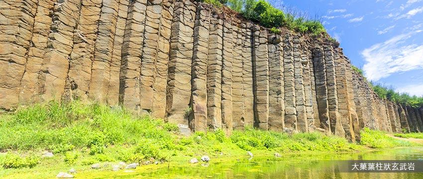 大菓葉柱狀玄武岩