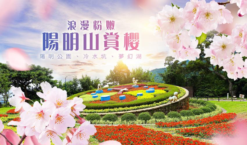 浪漫粉嫩陽明山賞櫻1日~陽明公園、冷水坑、夢幻湖