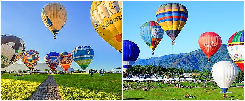 鹿野高台~熱氣球